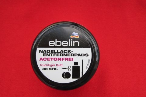 Nail polish remover pads from Ebelin: a review