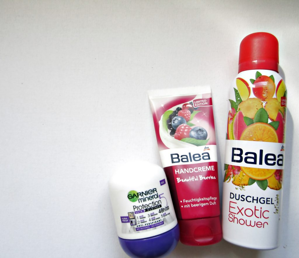 favorite body care garnier essentials deodorant balea handcreme balea foam shower gel