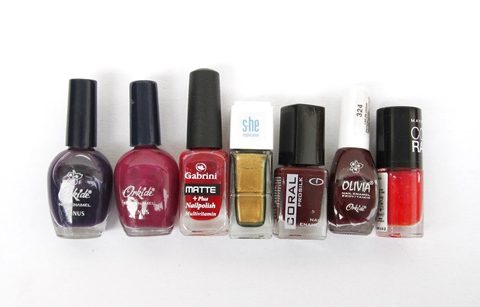 My favorites from the Manicure Necessities: colorful nailpolishes