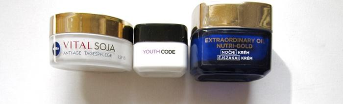 favorite creams nivea vital soja loreal youth code loreal nutri gold