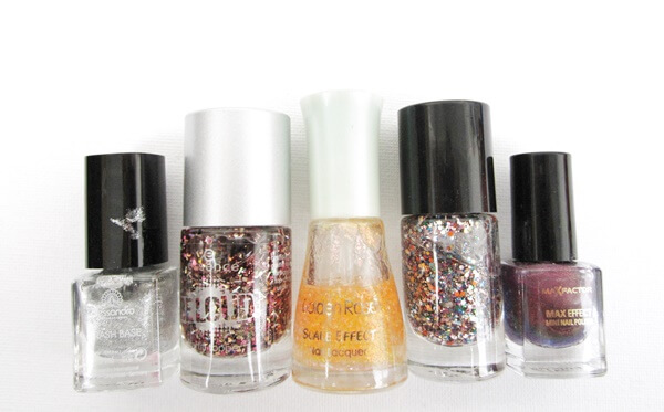 nail polishes glitter alessandro essence beloud golder rose essence circus max factor