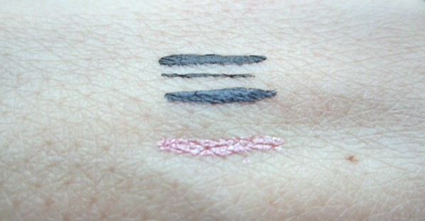 Oriflame liquid eyeliner very me click it black grey pink swatch