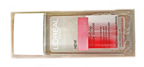 feat L'oreal skin perfection 3 in 1 purifying micellar solution review