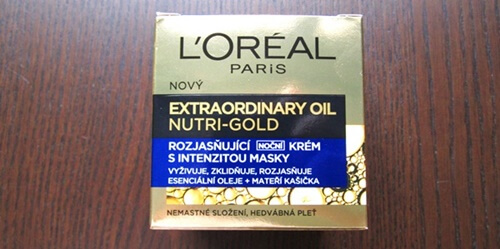 review l'oreal night cream extraordinary oil nutri gold