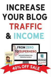 increase your blog traffic and income the she approach to boosting your blog traffic from zero to superhero affiliate marketing training bundle