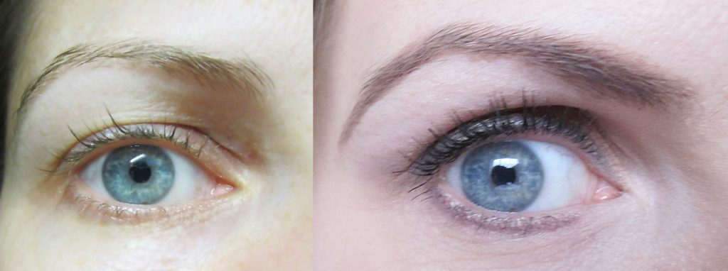 Eyebrow-Trick-Before-After how to make them stand out using eyeshadow beautyholics.co