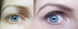 eyebrows trick before-after