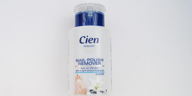 review cien nail polish remover classic packaging blue