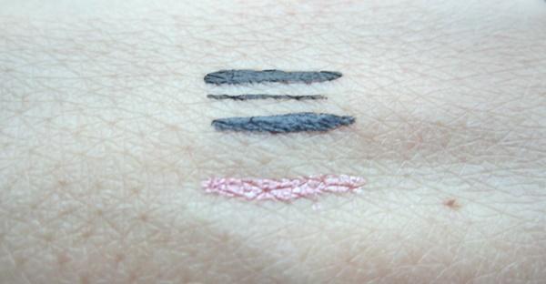 Oriflame liquid eyeliner very me click it black grey pink swatch beautyholics.co