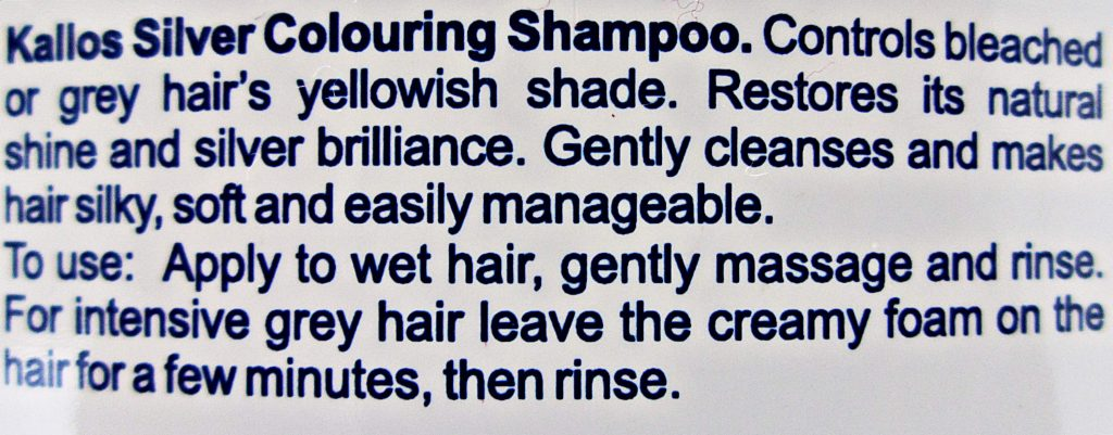 Kallos shampoo silver reflex review English description beautyholics.co
