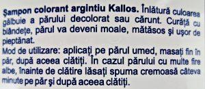 kallos review shampoo silver reflex romanian description descriere limba romana beautyholics.co